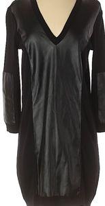 W118 by Walter Baker Knit Faux Leather Dress/ S